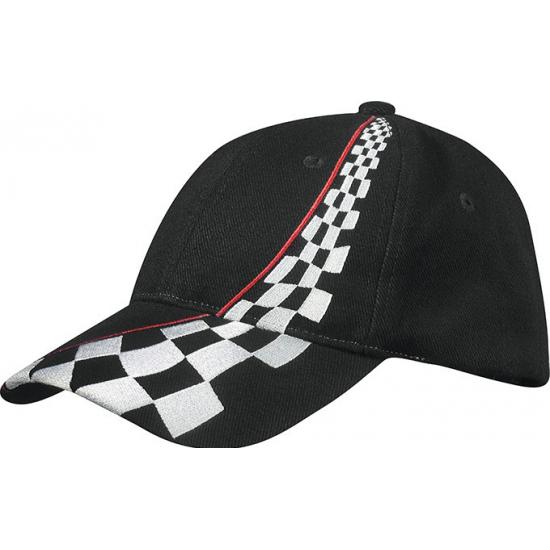 Zwarte race cap voor volwassenen