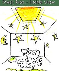 Light science for kids peep box