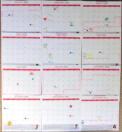 kindergarten calendar activities