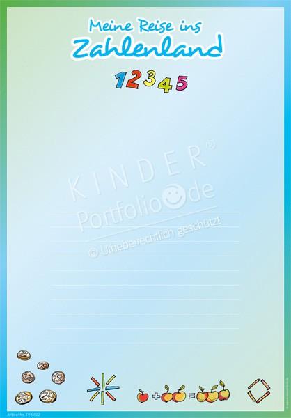 Kindergarten Portfolio Vorlagen - Meine Reise ins Zahlenland