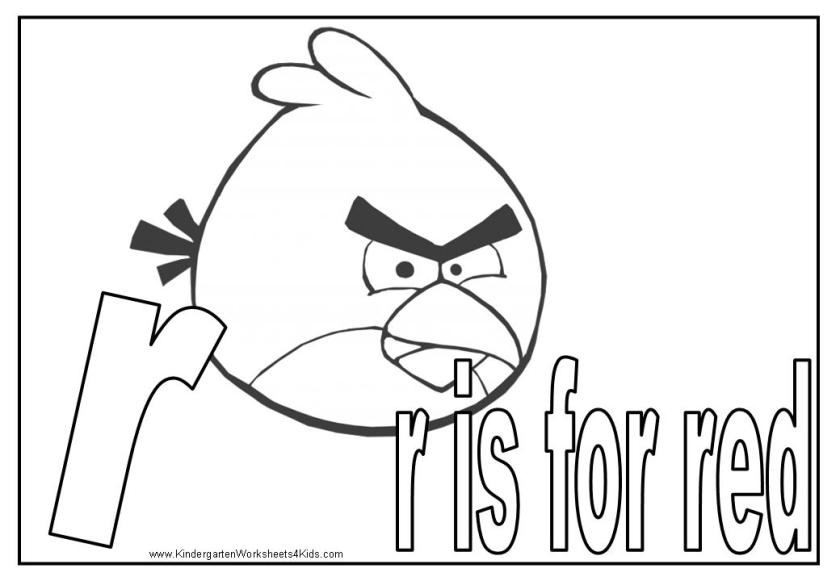 angry birds alphabet coloring pages