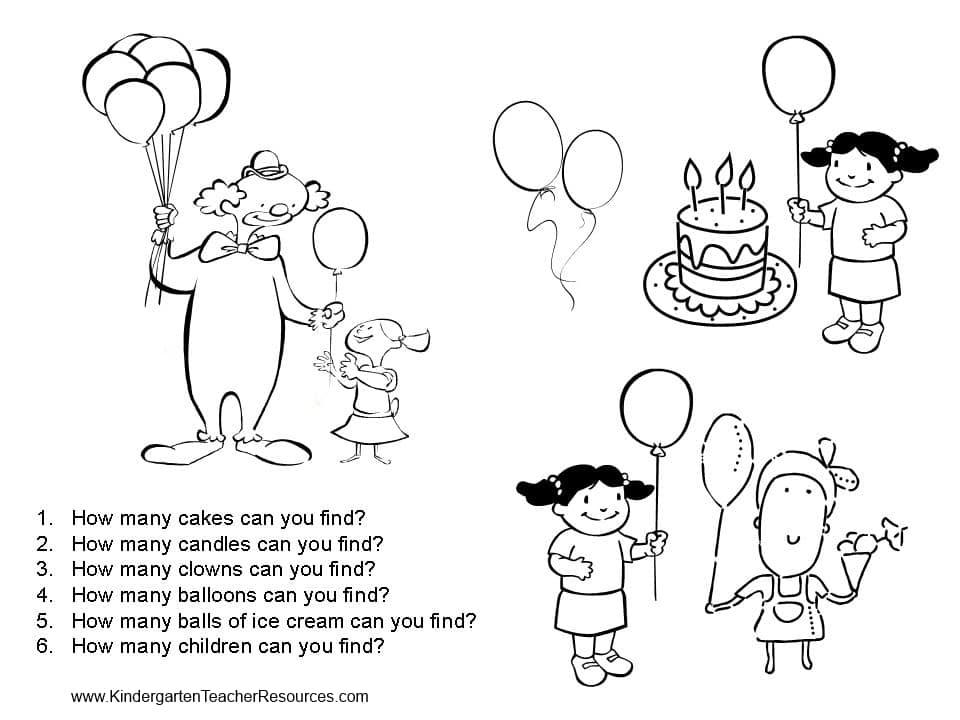 kindergarten worksheets ⋆ Kindergarten Teacher Resources