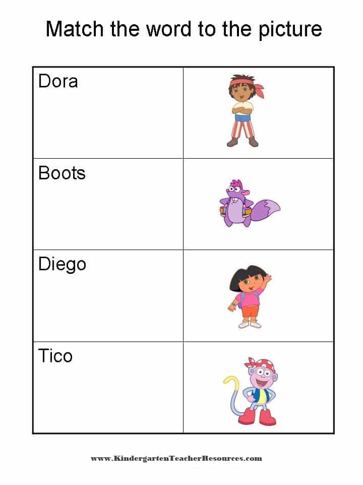 Dora the Explorer Worksheets and Activities