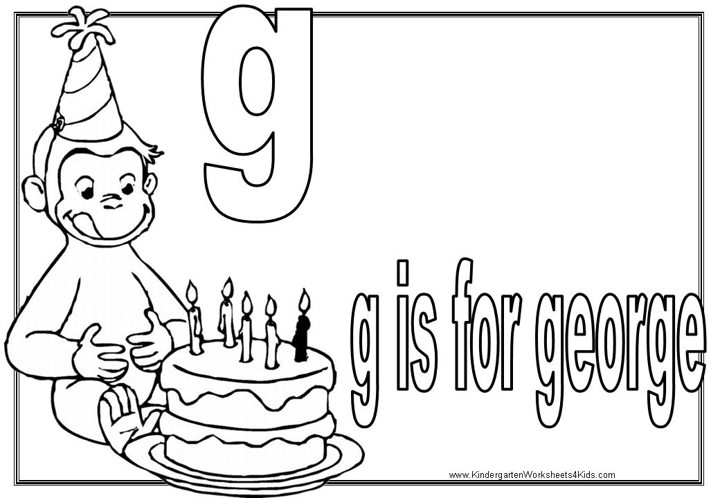 Kindergarten Worksheets with Curious George