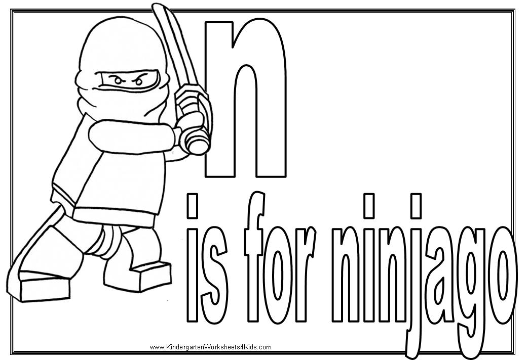 Alphabet Coloring Pages with Ninjago