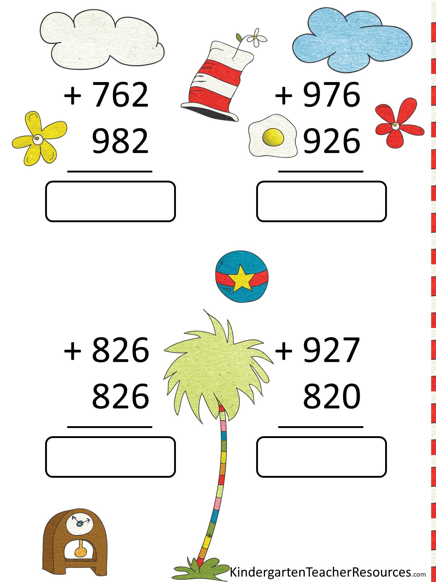 hight resolution of Free Dr Seuss Math Activities