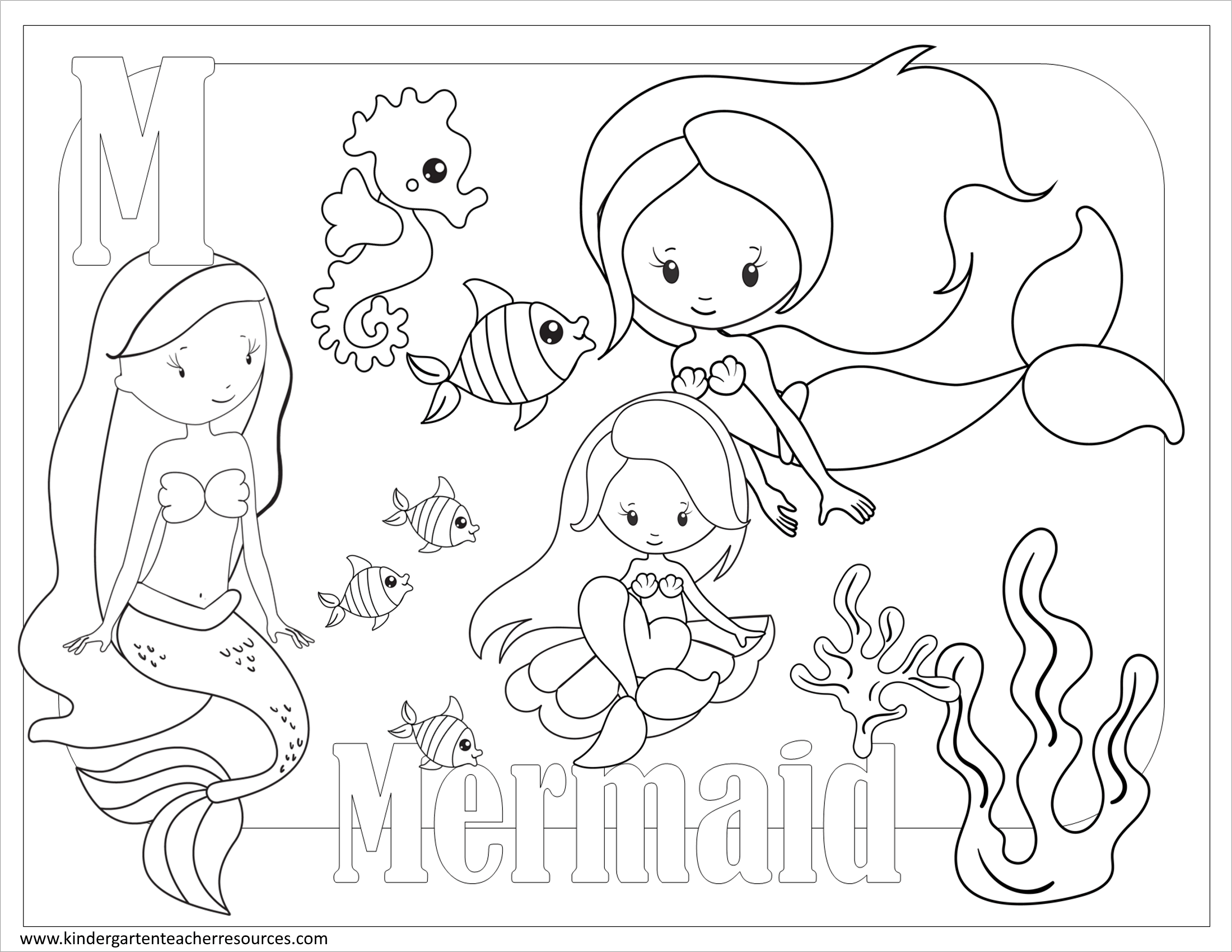 Free Printable Coloring Pages For Kindergarten