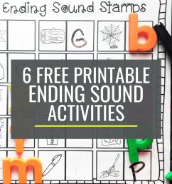 6 Free Ending Sounds Activities for Small Groups – KindergartenWorks [ 1500 x 1000 Pixel ]