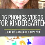 16 Quick Phonics Videos For Kindergarten Kindergartenworks