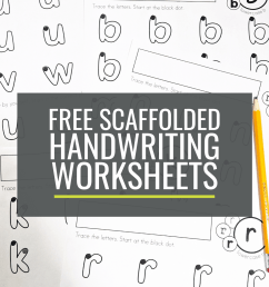 Free Scaffolded Handwriting Worksheets for Kindergarten: Lowercase a-z –  KindergartenWorks [ 1500 x 1000 Pixel ]