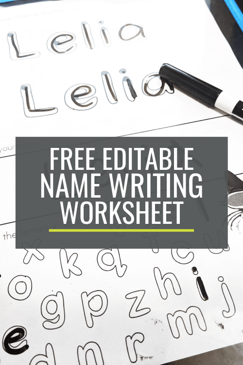 small resolution of Free Name Writing Practice Sheet for Kindergarten – KindergartenWorks