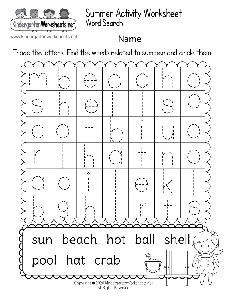 medium resolution of Free Kindergarten Summer Worksheets - Keeping Kids Learning in the Summer