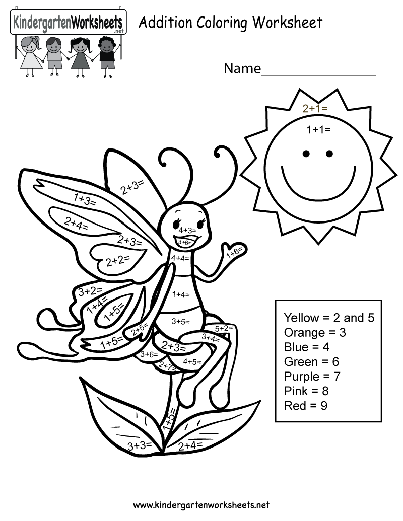 Free coloring pages of spring math addition