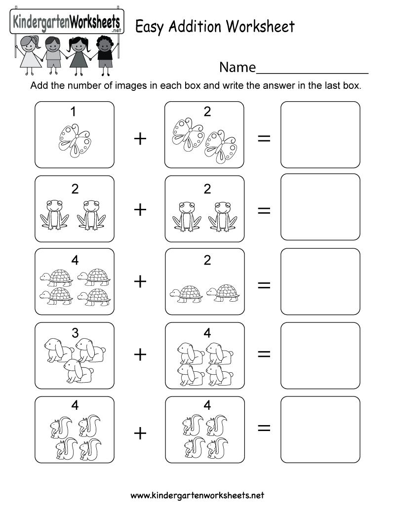 Easy Addition Worksheet