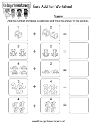 Easy Addition Worksheet