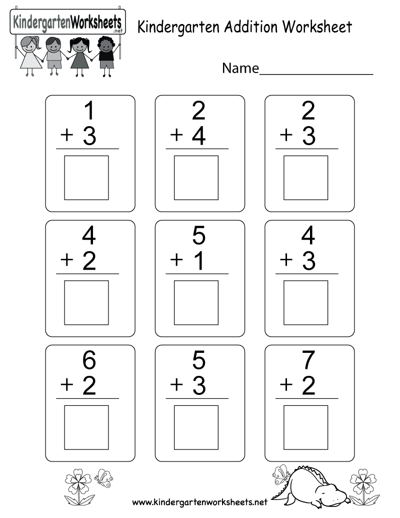 medium resolution of Kindergarten Addition Worksheet - Free Math Worksheet for Kids