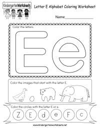 Printables Letter E - Kidz Activities