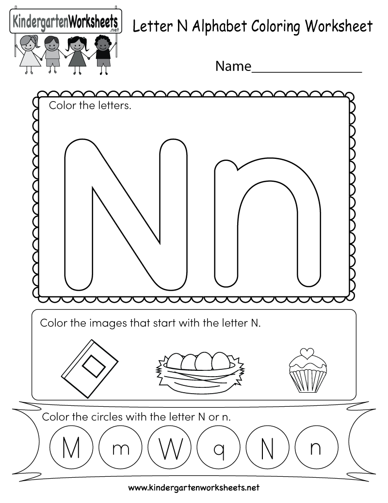 Letter N Worksheets For Kindergarten Poemsrom