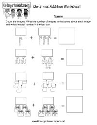 Free Printable Christmas Addition Worksheet for Kindergarten
