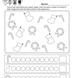 Preschool Christmas Math Worksheets   www.robertdee.org [ 1035 x 800 Pixel ]