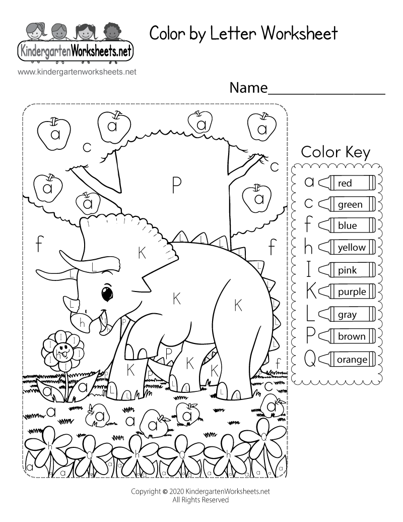 hight resolution of Color by Letter Worksheet for Kindergarten - Free Printable
