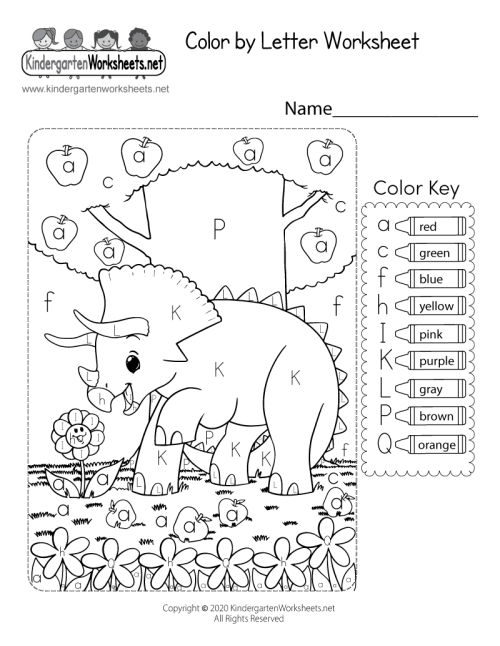 small resolution of Color by Letter Worksheet for Kindergarten - Free Printable