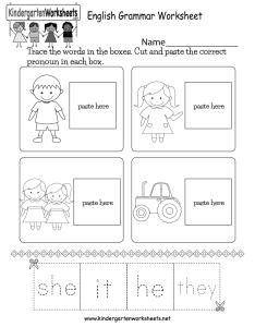 Kindergarten english grammar worksheet printable also free for kids rh kindergartenworksheets