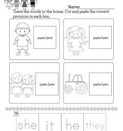 English Grammar Worksheet - Free Kindergarten English Worksheet for Kids [ 1035 x 800 Pixel ]