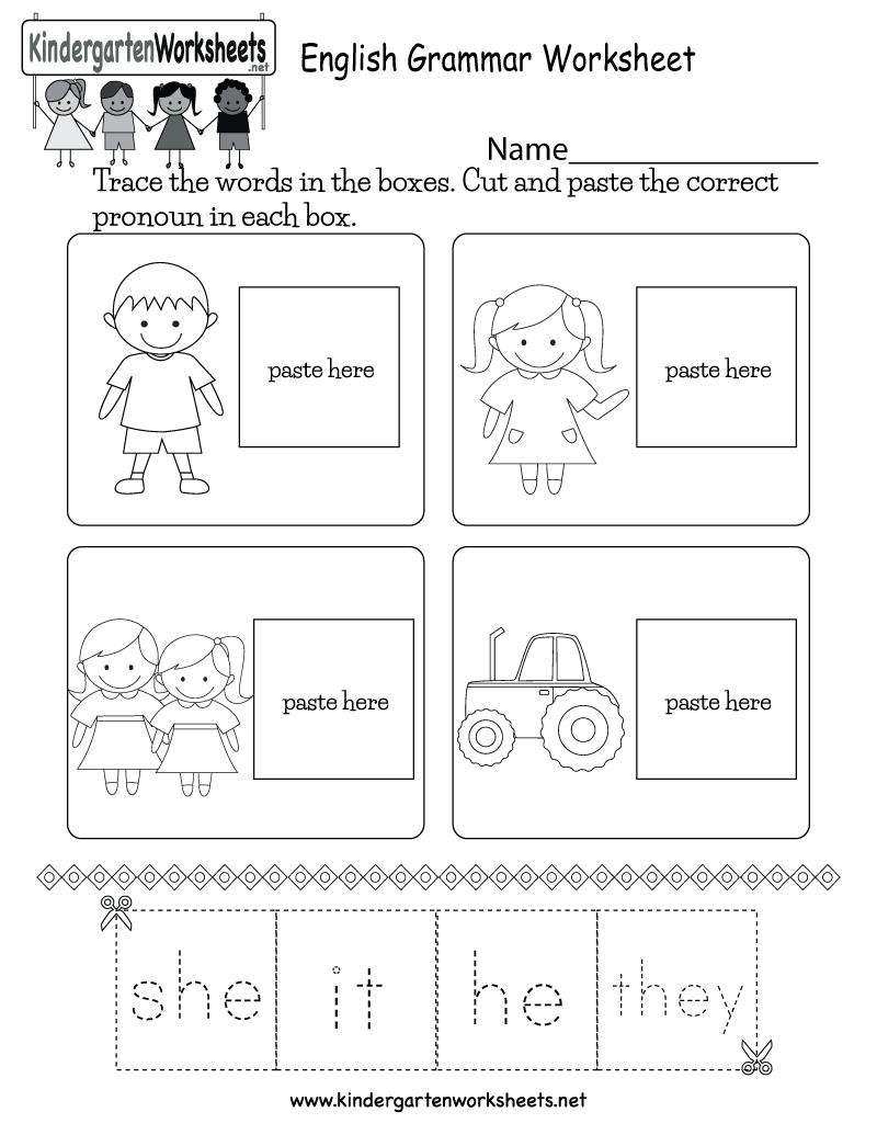 medium resolution of English Grammar Worksheet - Free Kindergarten English Worksheet for Kids