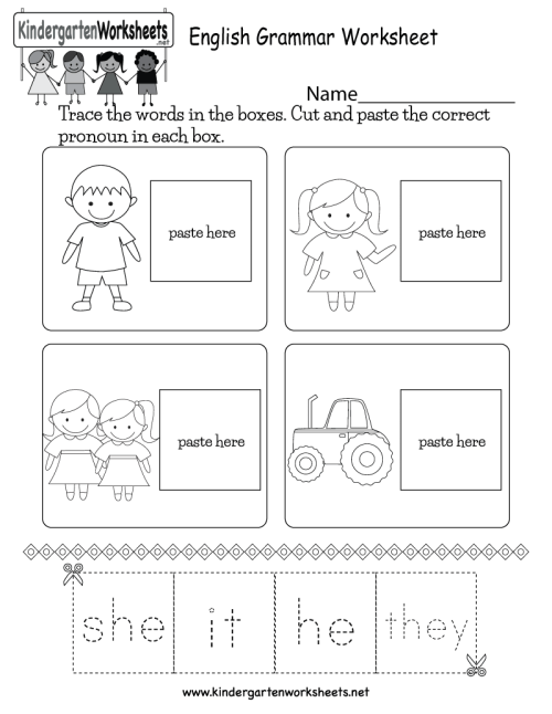 small resolution of English Grammar Worksheet - Free Kindergarten English Worksheet for Kids