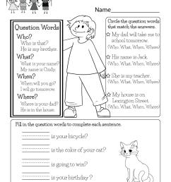 English Worksheet - Free Kindergarten English Worksheet for Kids [ 1035 x 800 Pixel ]