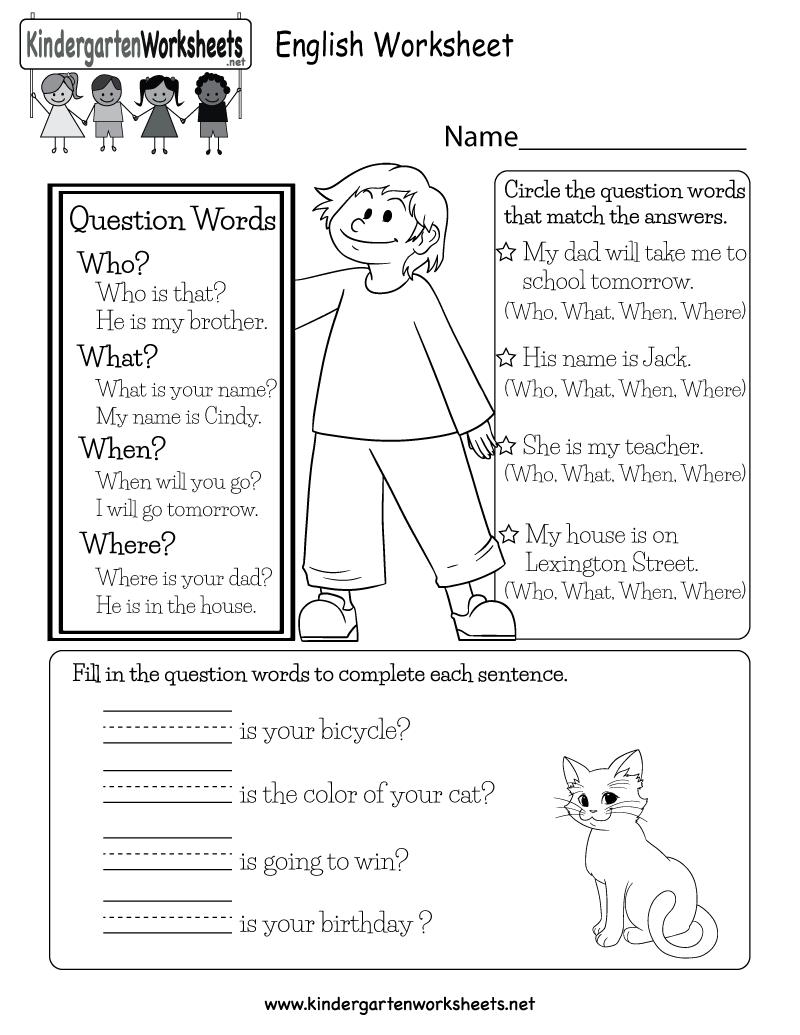 medium resolution of English Worksheet - Free Kindergarten English Worksheet for Kids