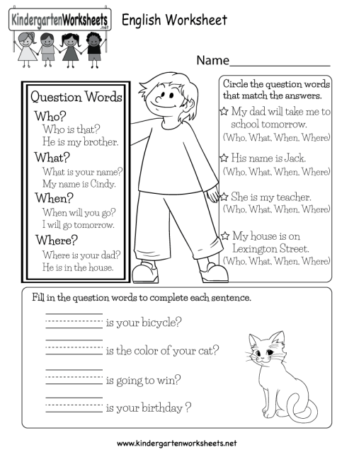 small resolution of English Worksheet - Free Kindergarten English Worksheet for Kids