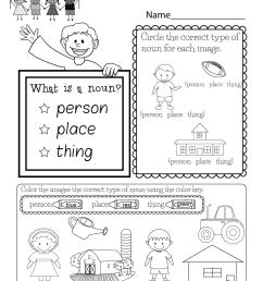 Free Kindergarten English Worksheet [ 1035 x 800 Pixel ]
