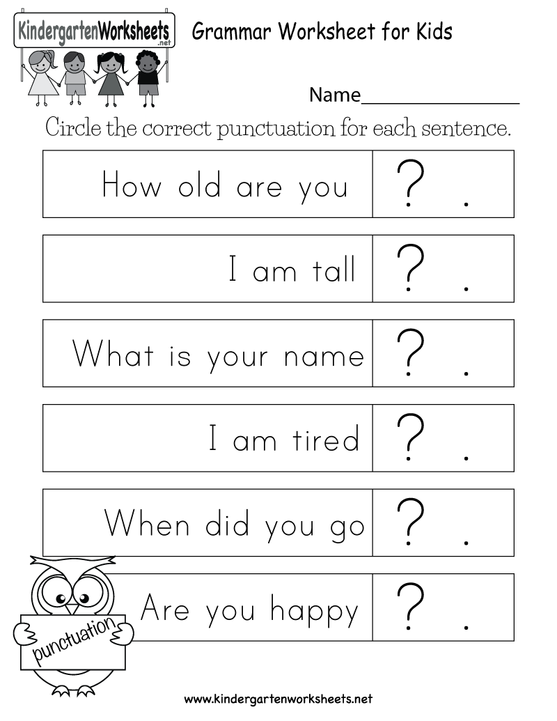 medium resolution of Grammar Worksheet for Kids - Free Kindergarten English Worksheet