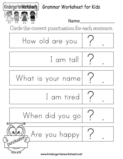 small resolution of Grammar Worksheet for Kids - Free Kindergarten English Worksheet