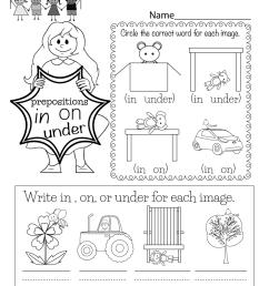 Grammar Worksheet - Free Kindergarten English Worksheet for Kids [ 1035 x 800 Pixel ]