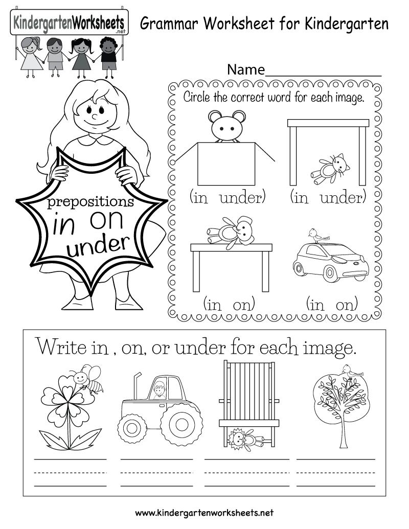 hight resolution of Grammar Worksheet - Free Kindergarten English Worksheet for Kids