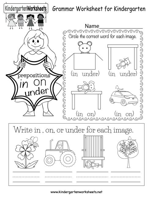 small resolution of Grammar Worksheet - Free Kindergarten English Worksheet for Kids