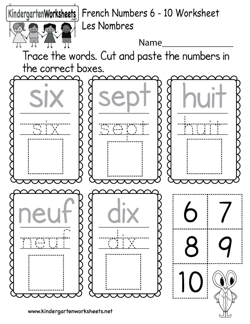 medium resolution of Beginners' French Worksheet - Free Kindergarten Learning Worksheet for Kids