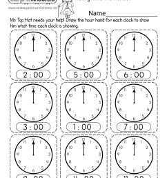 Telling Time Worksheet - Free Printable [ 1035 x 800 Pixel ]