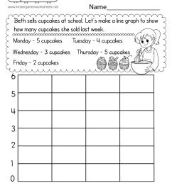 Line Graph Worksheet for Kindergarten - Free Printable [ 1035 x 800 Pixel ]