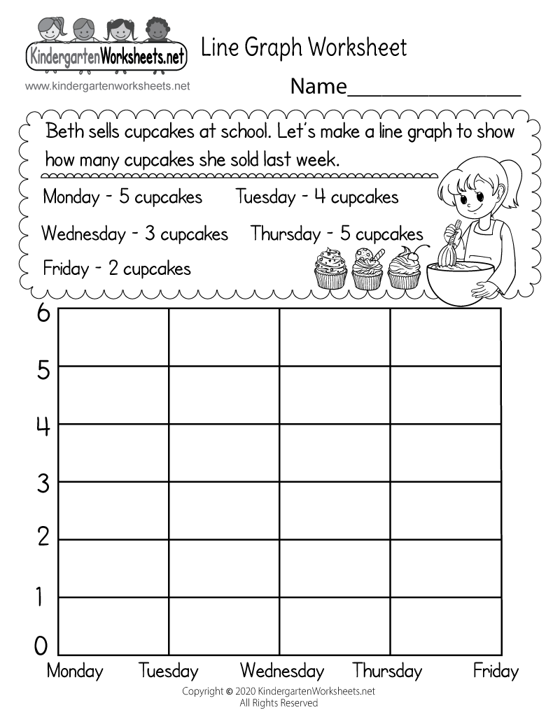 medium resolution of Line Graph Worksheet for Kindergarten - Free Printable
