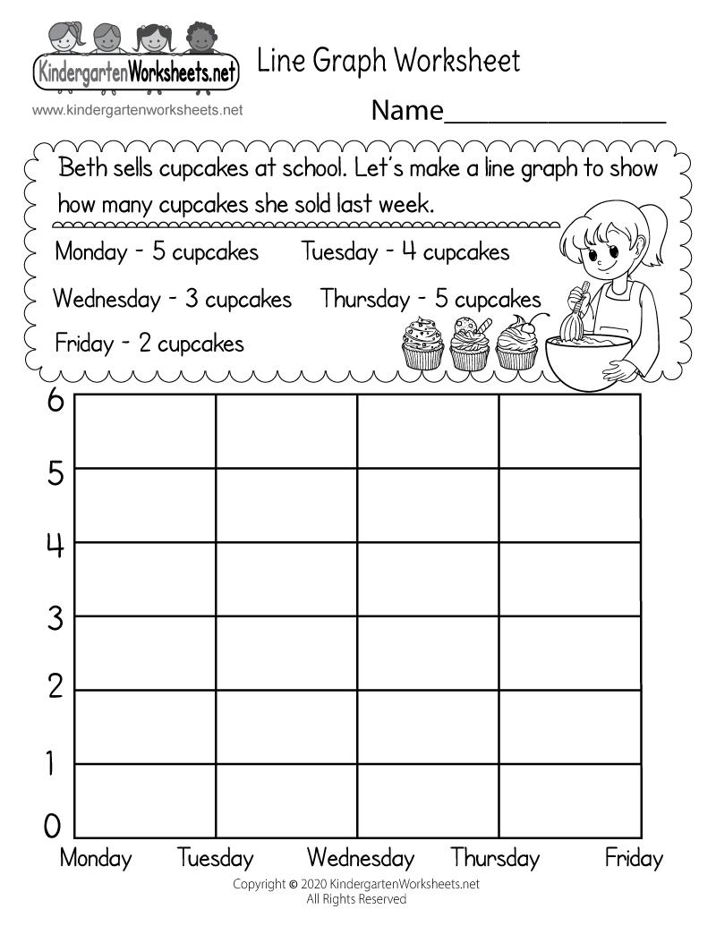 hight resolution of Line Graph Worksheet for Kindergarten - Free Printable