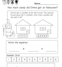 kindergarten word problems worksheets [ 1035 x 800 Pixel ]