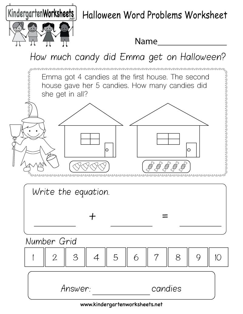 hight resolution of kindergarten word problems worksheets