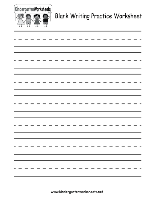 small resolution of Blank Writing Practice Worksheet - Free Kindergarten English Worksheet for  Kids