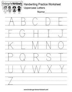 Kindergarten handwriting practice worksheet printable also free english rh kindergartenworksheets