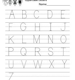 Handwriting Practice Worksheet - Free Kindergarten English Worksheet for  Kids [ 1035 x 800 Pixel ]
