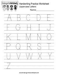 Handwriting Practice Worksheet - Free Kindergarten English ...